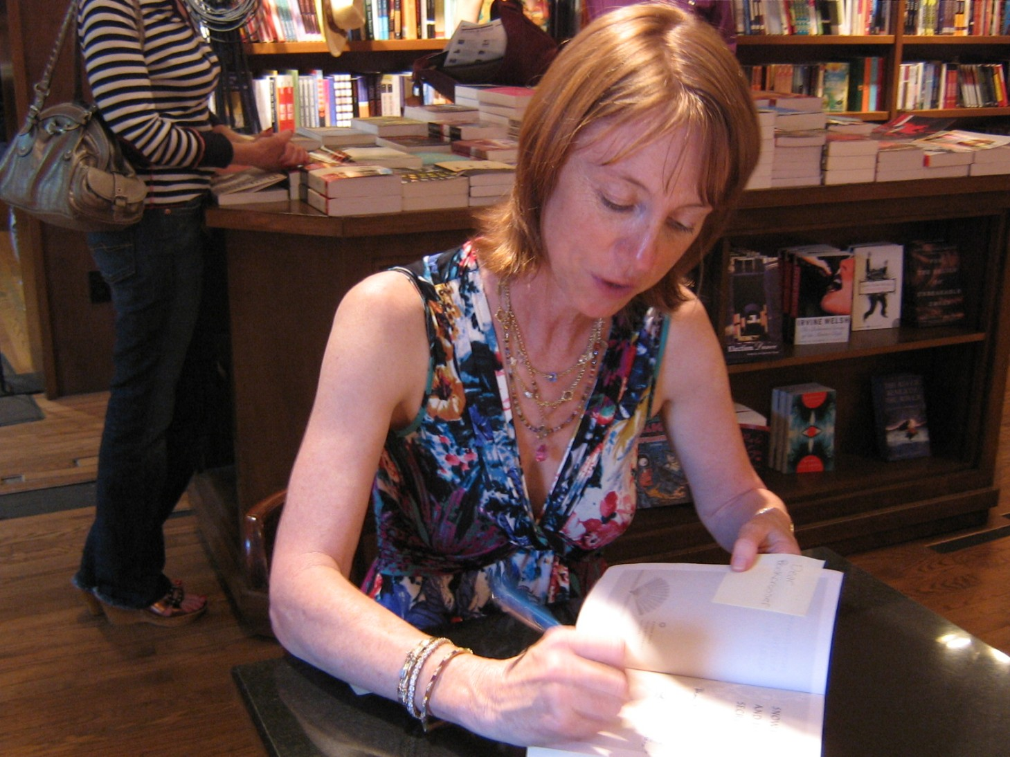 Lisa See signing book